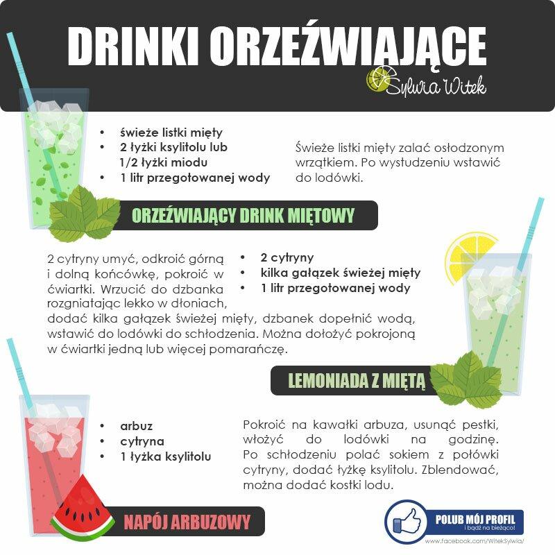 drinki orzeźwiające