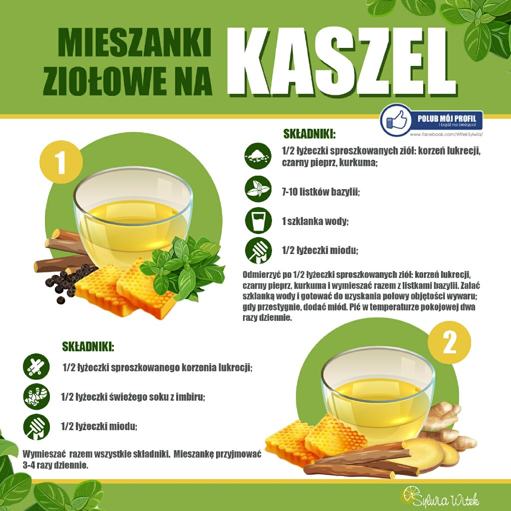 mieszanki ziołowe na kaszel