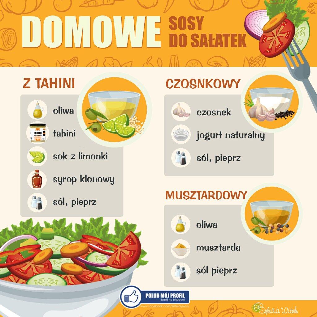Sosy sałatkowe, domowe sosy sałatkowe