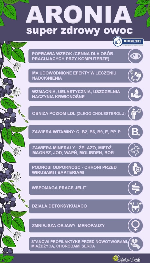Aronia -super zdrowy owoc